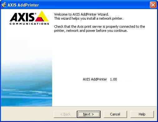 axis addprinter
